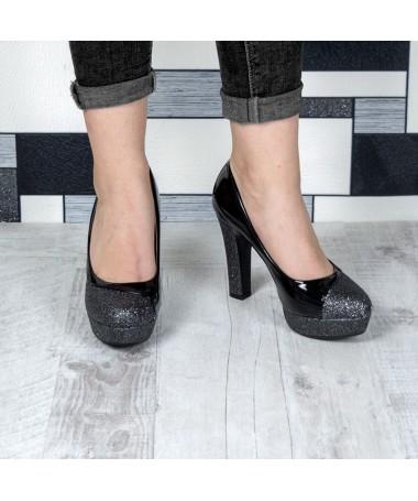 Pantofi Cu Toc Betta Negri - Trendmall.ro