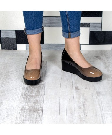 Pantofi Cu Toc Selia Bej - Trendmall.ro