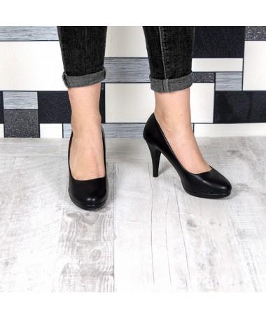 Pantofi Cu Toc Ramina Negri - Trendmall.ro