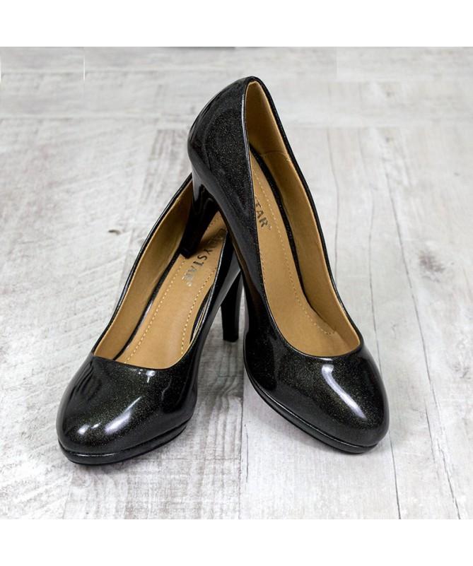 Pantofi Cu Toc Lisana Negri - Trendmall.ro