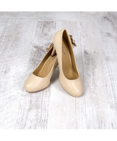 Pantofi Cu Toc De Dama Simi Bej - Trendmall.ro