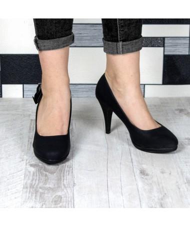 Pantofi Cu Toc De Dama Simi Negri - Trendmall.ro