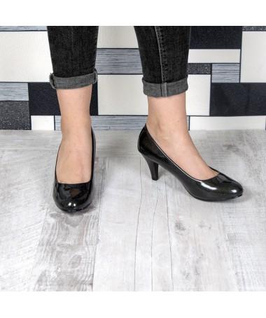 Pantofi Cu Toc Gralia Negri De Dama - Trendmall.ro