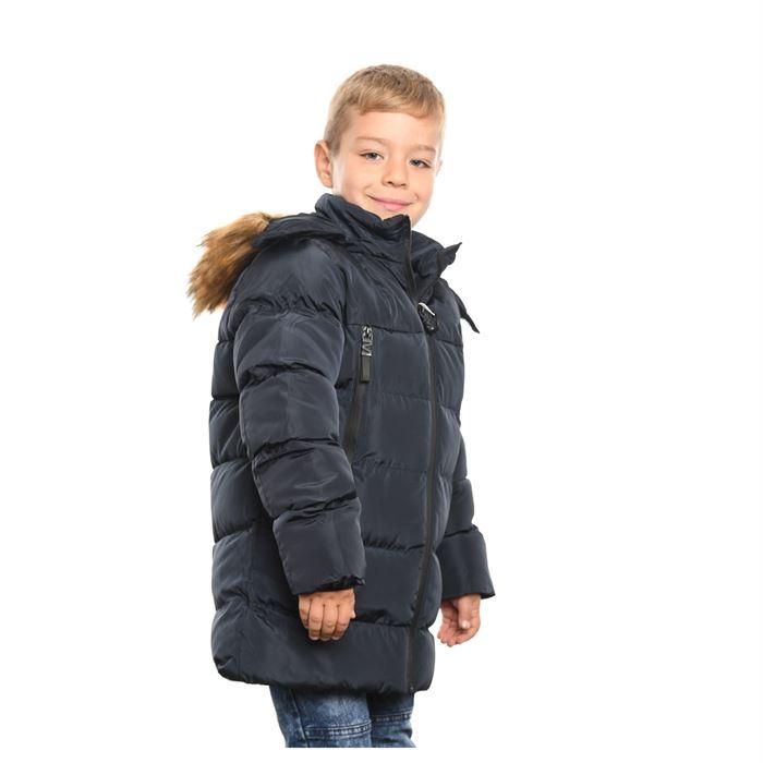 Geaca Lunga De Copii Sergiu Albastru Inchis - Trendmall.ro