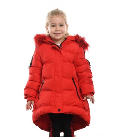 Geaca Lunga De Copii Larisa Rosie - Trendmall.ro