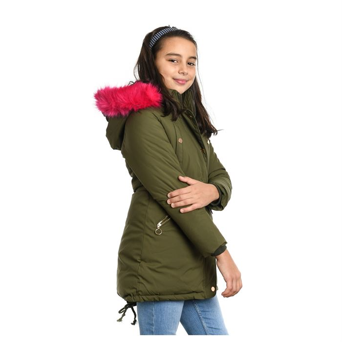 Geaca De Copii Eronic Verde Cu Roz - Trendmall.ro