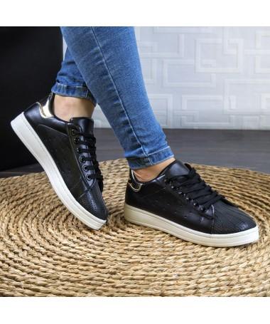 Pantofi Sport Diko De Dama Negri Cu Auriu - Trendmall.ro