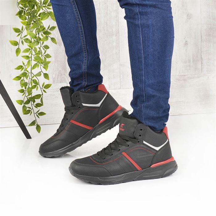 Pantofi Sport Imblaniti De Barbati Iust Negru Cu Rosu - Trendmall.ro