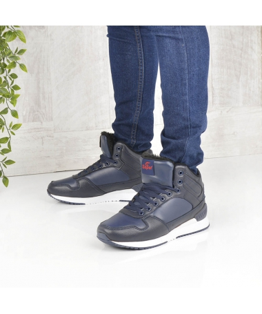 Pantofi Sport Imblaniti De Barbati Agon Albastru Inchis - Trendmall.ro