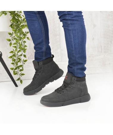 Pantofi Sport Imblaniti De Barbati Caprio Negri - Trendmall.ro