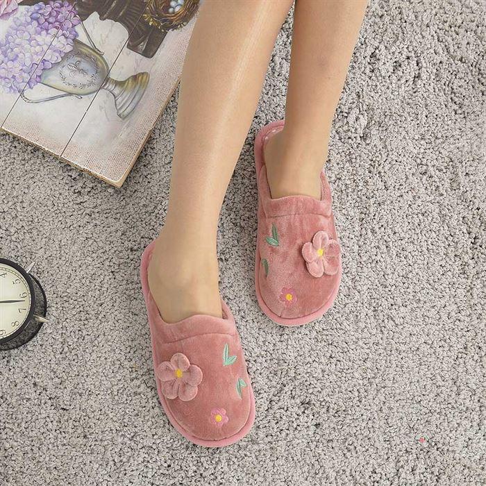 Papuci De Casa De Dama Aromis Piersica - Trendmall.ro