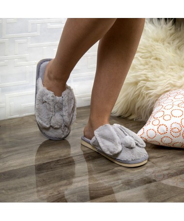 Papuci De Casa Eliana Gri - Trendmall.ro