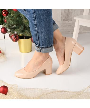 Pantofi De Dama Breiv Bej - Trendmall.ro