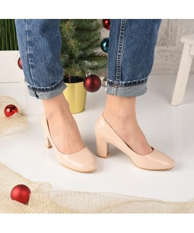 Pantofi Dama Secon Bej - Trendmall.ro