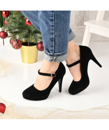 Pantofi De Dama Coper Negri - Trendmall.ro
