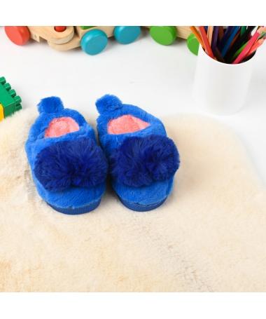 Papuci De Casa De Copii Folen Albastri - Trendmall.ro