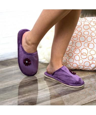 Papuci De Casa Natty Violet - Trendmall.ro