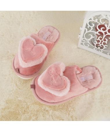 Papuci De Casa De Copii Love Heart Piersica - Trendmall.ro