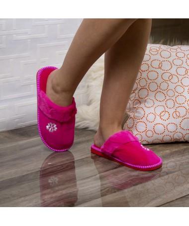 Papuci De Casa Anisia Roz - Trendmall.ro