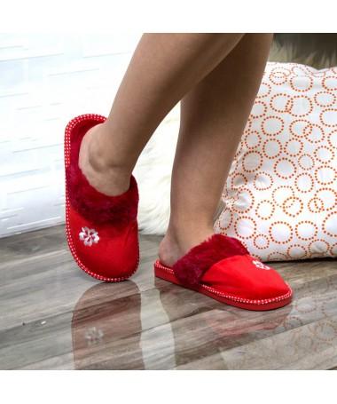 Papuci De Casa Anisia Rosii - Trendmall.ro