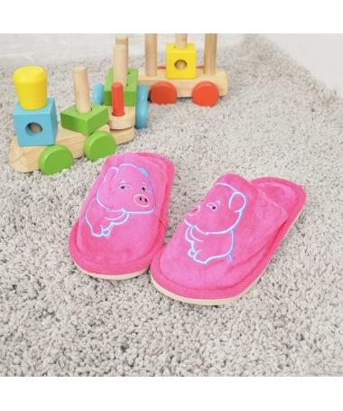 Papuci De Casa De Copii Minpig Fuchsia - Trendmall.ro