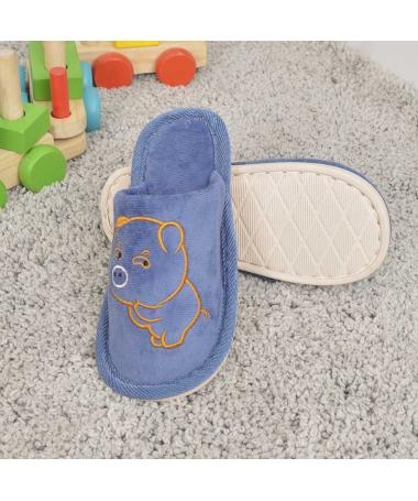Papuci De Casa De Copii Minpig Albastri - Trendmall.ro