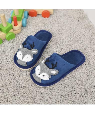 Papuci De Casa De Copii Minireni Albastru Inchis - Trendmall.ro
