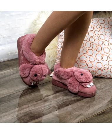 Papuci De Casa Siona Roz - Trendmall.ro