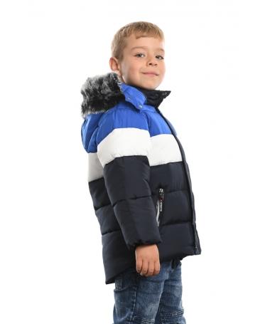 Geaca De Copii Tricolor Albastra - Trendmall.ro