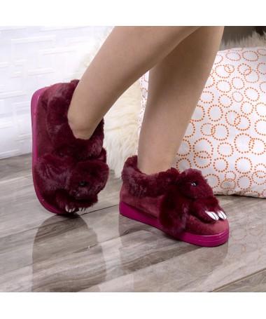 Papuci De Casa Siona Rosii - Trendmall.ro