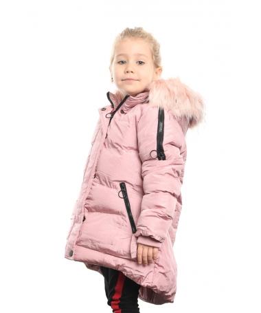 Geaca Lunga De Copii Larisa Roz - Trendmall.ro