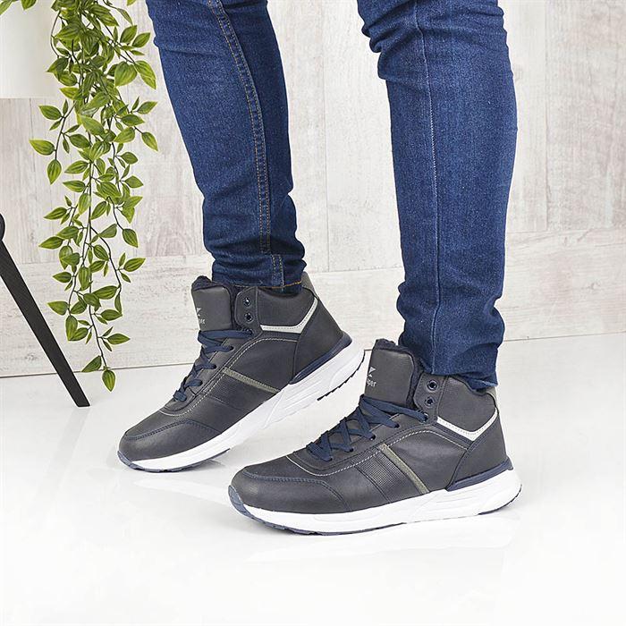 Pantofi Sport Imblaniti De Barbati Iust Albastru Inchis - Trendmall.ro