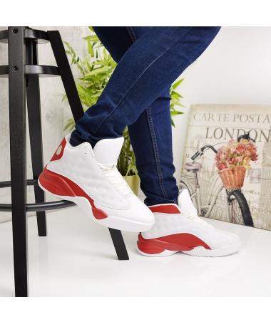 Pantofi Sport De Barbati Funion Alb Cu Rosu - Trendmall.ro