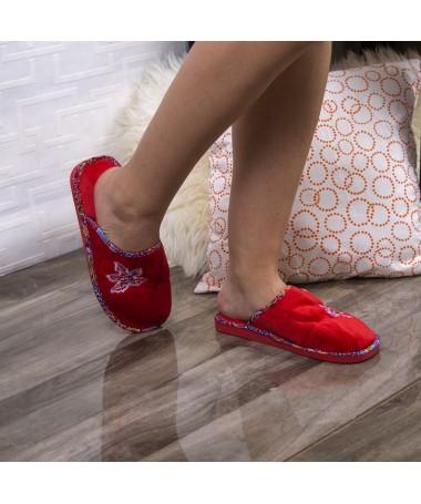 Papuci De Casa Sapal Rosii - Trendmall.ro