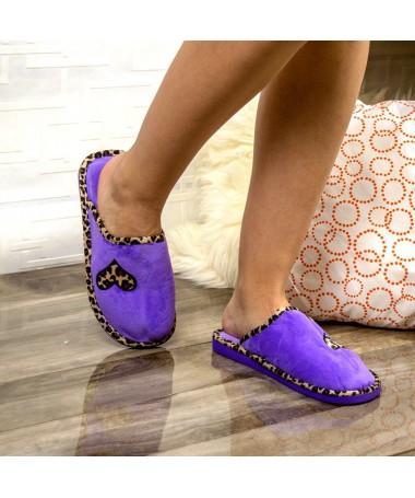 Papuci De Casa Anivo Mov - Trendmall.ro