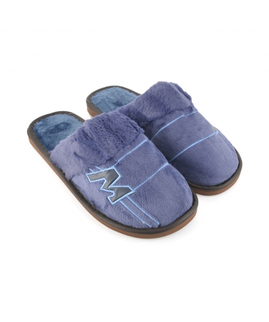 Papuci De Casa De Barbati Metri Albastri - Trendmall.ro