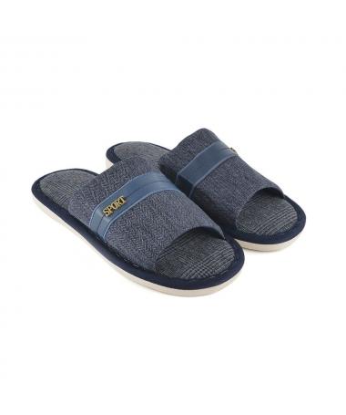 Papuci De Casa De Barbati Seon Albastri Inchis - Trendmall.ro