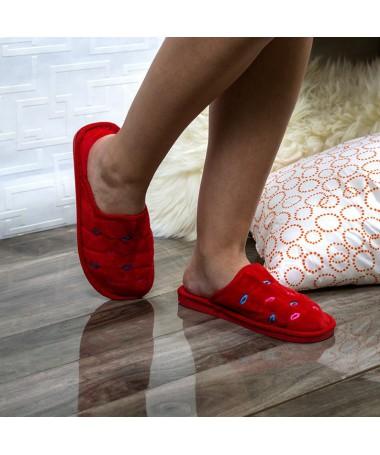 Papuci De Casa Perra Rosii - Trendmall.ro