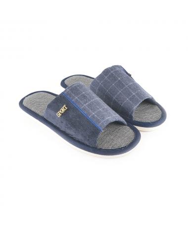 Papuci De Casa De Barbati Sand Albastri - Trendmall.ro