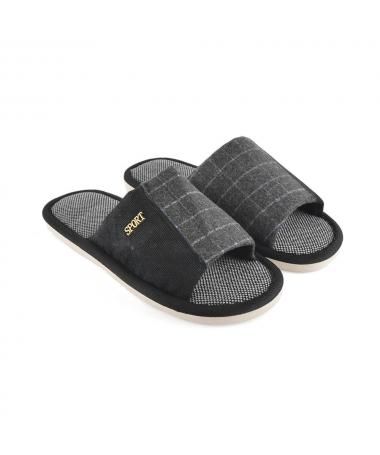 Papuci De Casa De Barbati Sand Negri - Trendmall.ro
