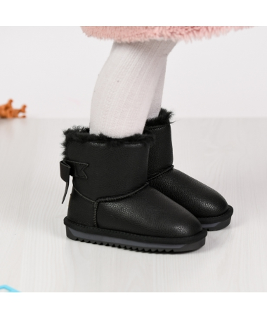Cizme De Copii Bian Negre - Trendmall.ro