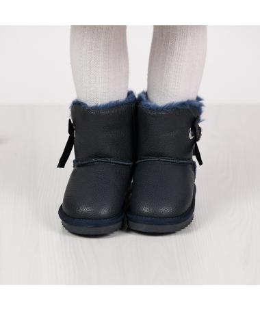 Cizme Tip Ugg De Copii Geran Albastre Inchis - Trendmall.ro