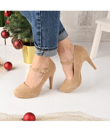 Pantofi De Dama Coper Bej - Trendmall.ro