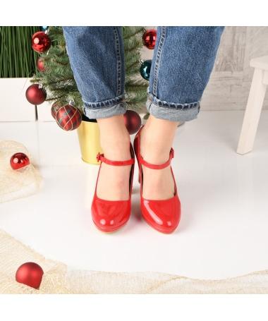 Pantofi De Dama Sareni Rosii - Trendmall.ro