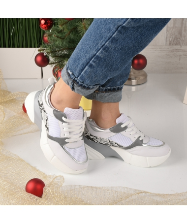 Pantofi Sport De Dama Decene Albi - Trendmall.ro
