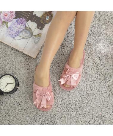 Papuci De Casa De Dama Reng Piersica - Trendmall.ro