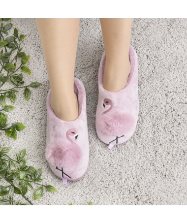 Papuci De Casa De Dama Flamingo Mov - Trendmall.ro