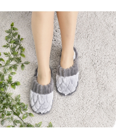 Papuci De Casa De Dama Sano Gri - Trendmall.ro