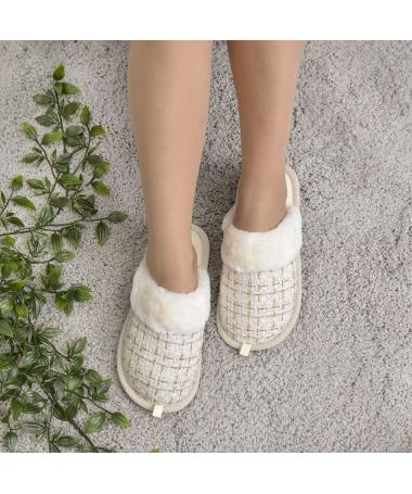 Papuci De Casa De Dama Robine Albi - Trendmall.ro