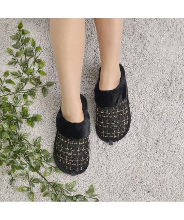 Papuci De Casa De Dama Robine Negri - Trendmall.ro